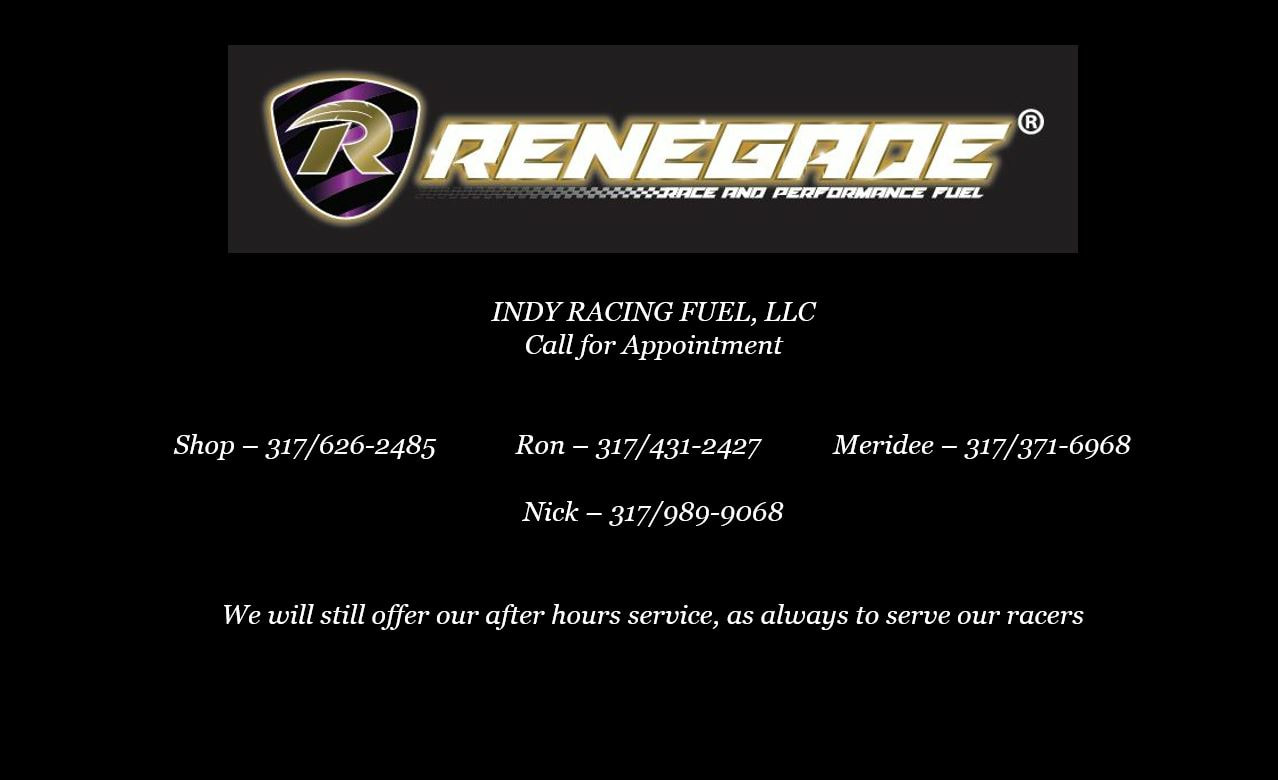 Renegade Race Fuel >> Indy Racing Fuels Llc Home